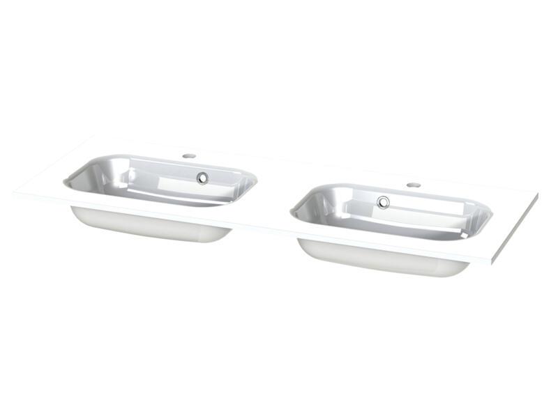 Tiger S-line Oval lavabo double encastrable 120cm polybéton