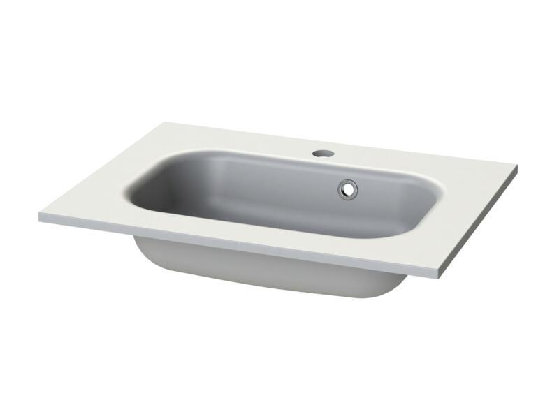Tiger S-line Oval lavabo encastrable 60cm polybéton mat