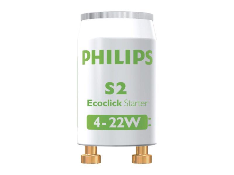 Philips S2 starter TL-lamp 4-22W 2 stuks