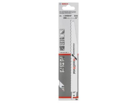 Bosch Professional S3456XF lame de scie sabre BIM 200mm bois/métal 2 pièces