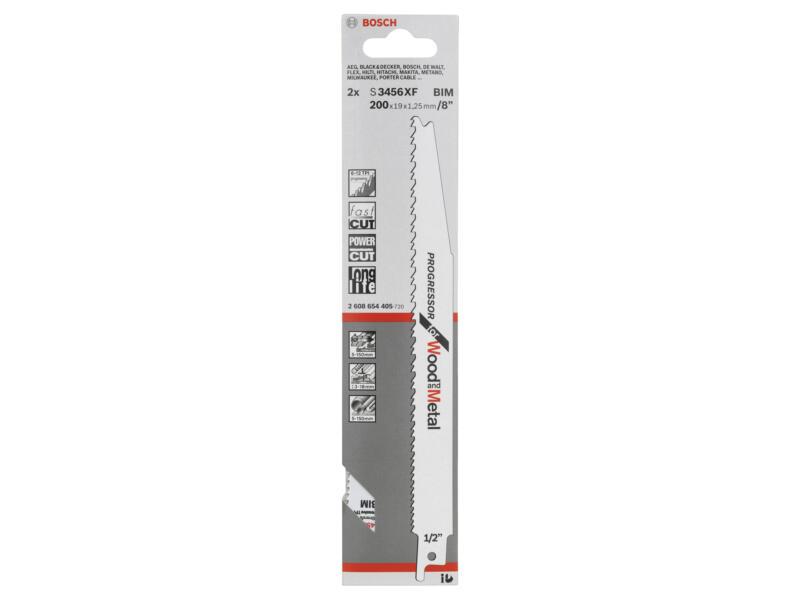 Bosch Professional S3456XF reciprozaagblad BIM 200mm hout/metaal 2 stuks