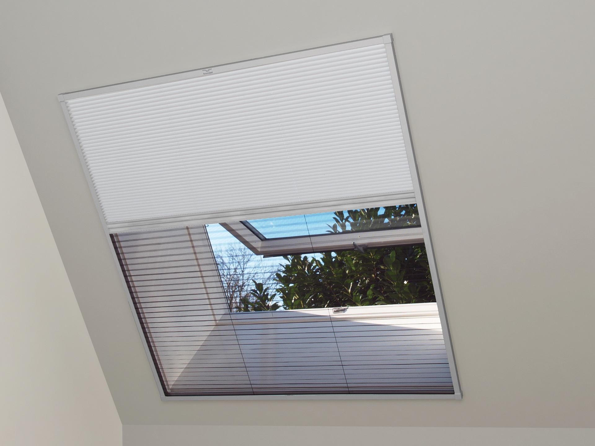 Bruynzeel S700 Duo Plissé Store Moustiquaire Fenêtre De Toit 133x180