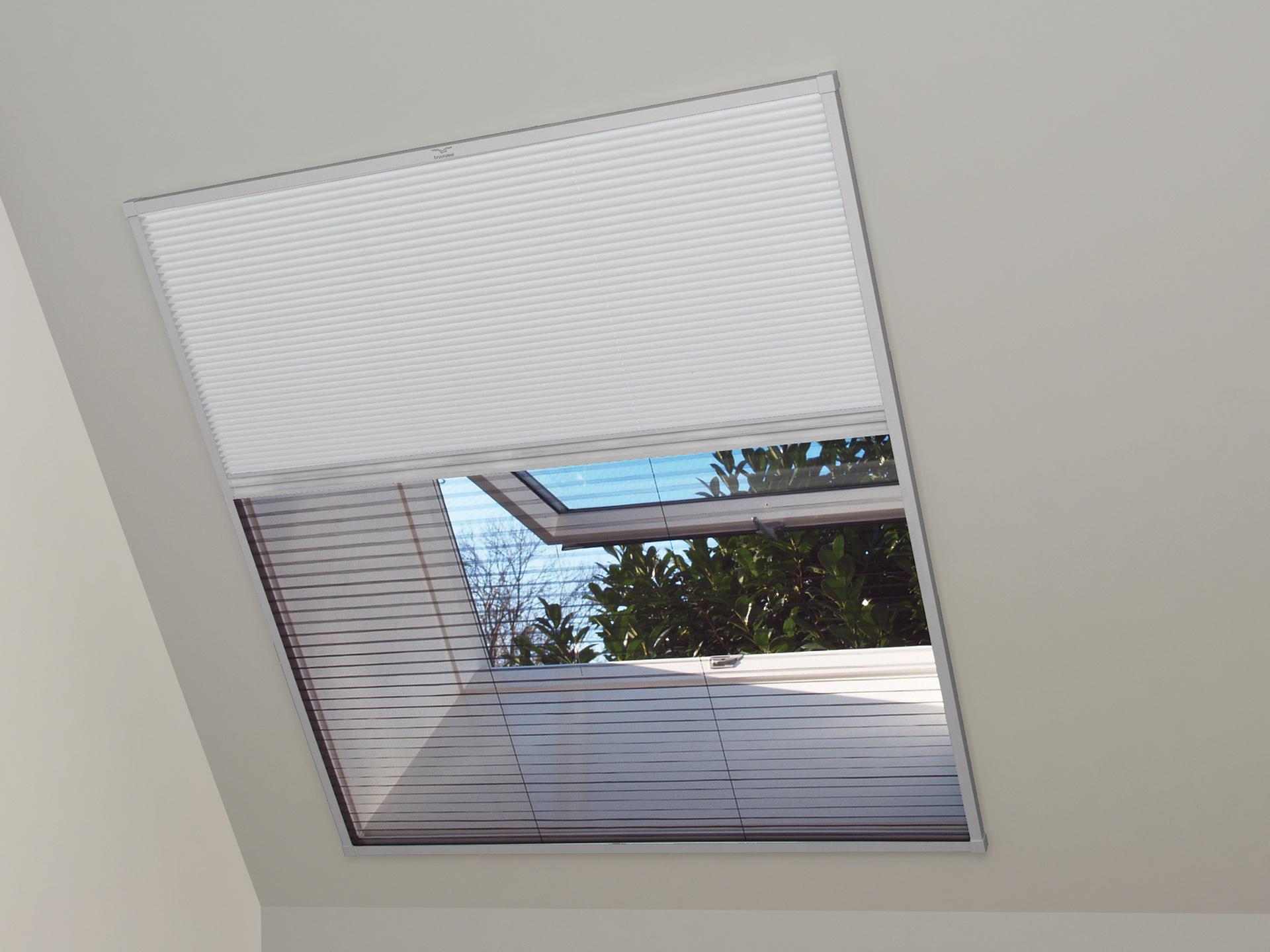 Bruynzeel S700 Duo Plissé Store Moustiquaire Occultant Fenêtre De