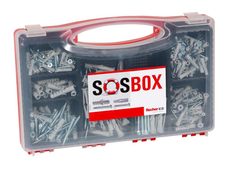 Fischer SOS-Box pluggenset S 5/6/8 FU 6/8/10 met schroef 180 stuks