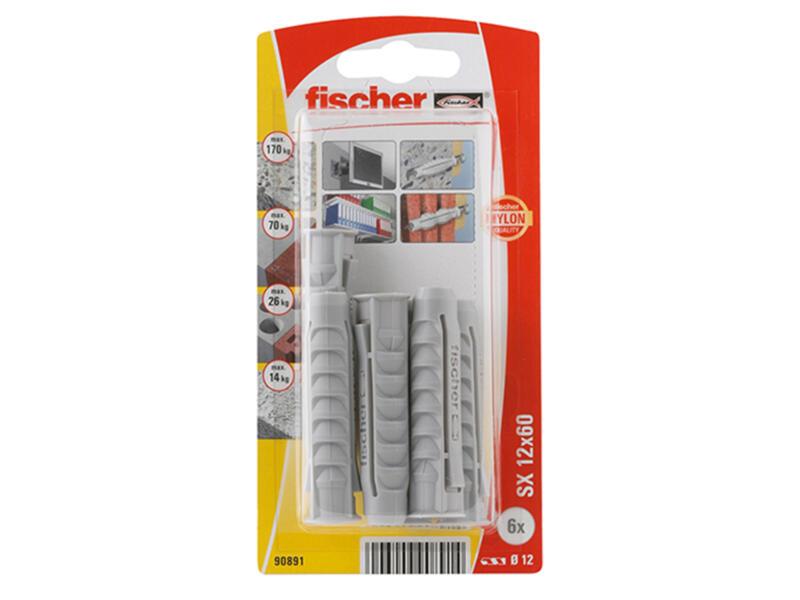 Fischer SX chevilles 12x60 mm 6 pièces