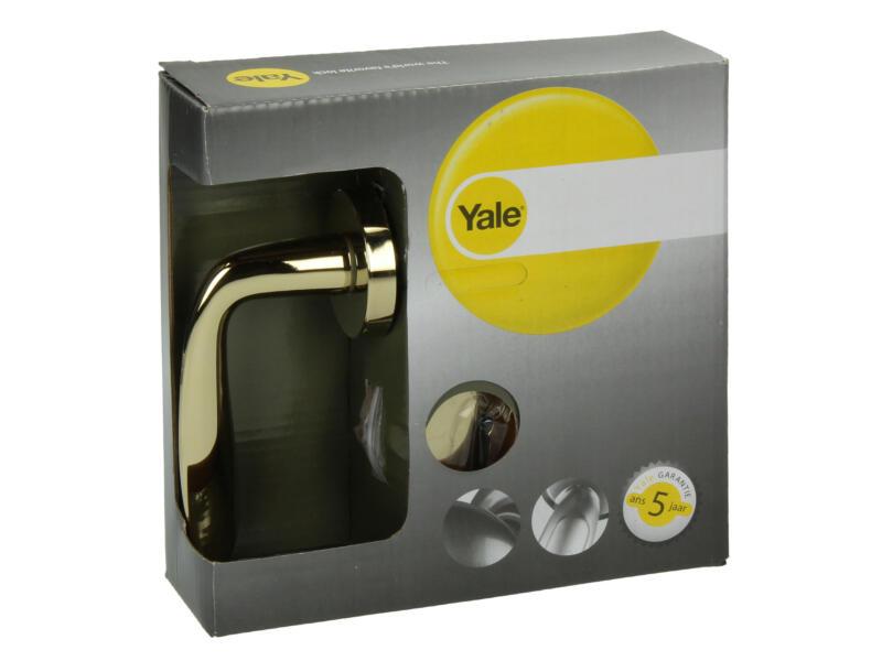 Yale Sacha BB poignée de porte avec rosaces 51mm set complet laiton poli