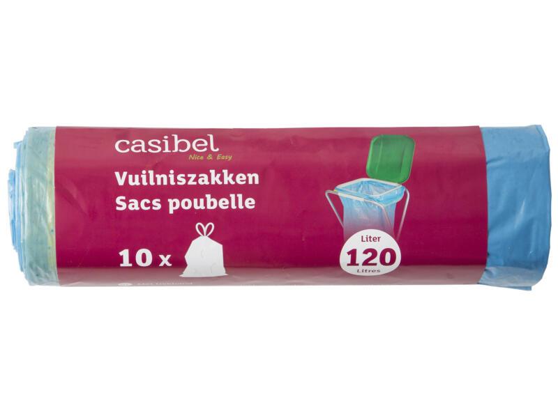 Casibel Sacs-poubelle 120l liens coulissants 10 pièces