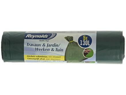 Vileda Sacs-poubelle Travaux & Jardin 130l 5 pièces
