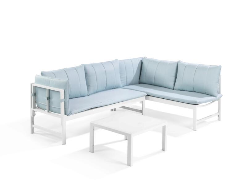 Garden Plus Sagres loungeset wit/blauw