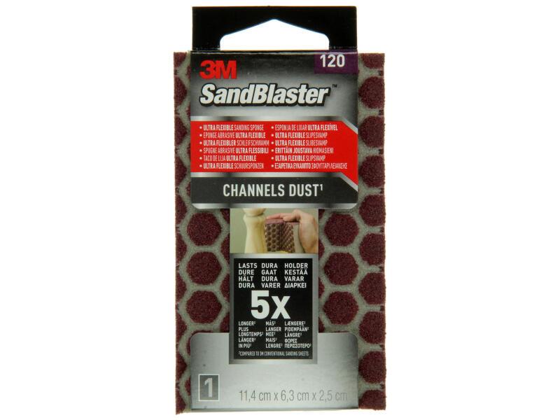 3M Sandblaster éponge abrasive ultra-flexible G120 moyen