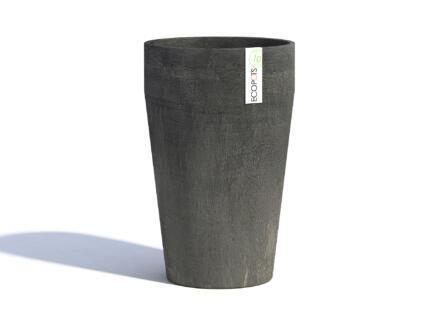 Ecopots Sankara XL pot à fleurs conique 45cm gris foncé