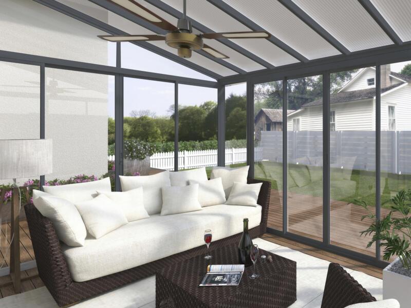 Palram Sanremo veranda 435x300x310 cm grijs