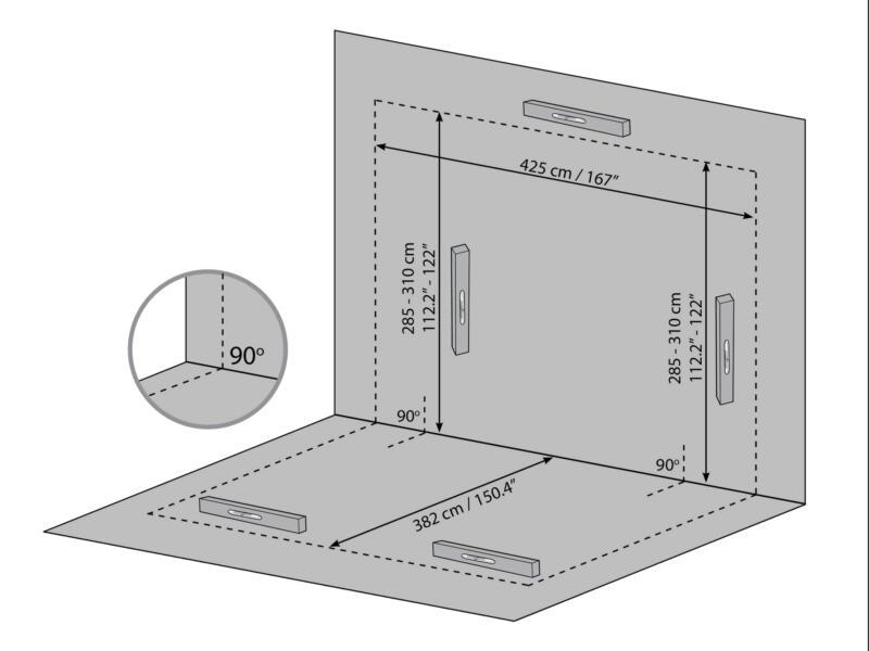 Palram Sanremo véranda 435x385x310 cm polycarbonate gris