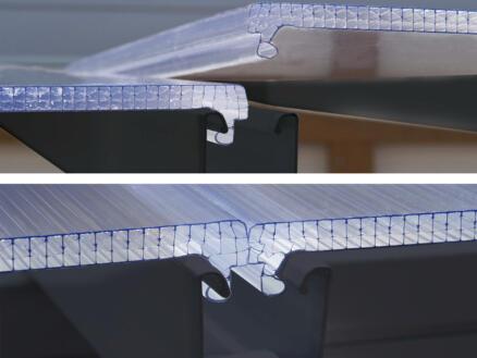 Palram Sanremo véranda 556x300x310 cm polycarbonate gris