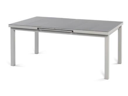 Garden Plus Sant Elm table de jardin 180x100 cm extensible jusqu'à 240cm gris