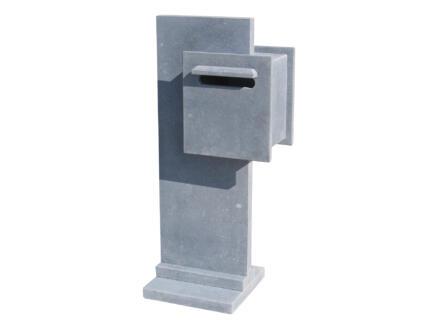 VASP Santa Cruz boîte aux lettres droite pierre bleue belge
