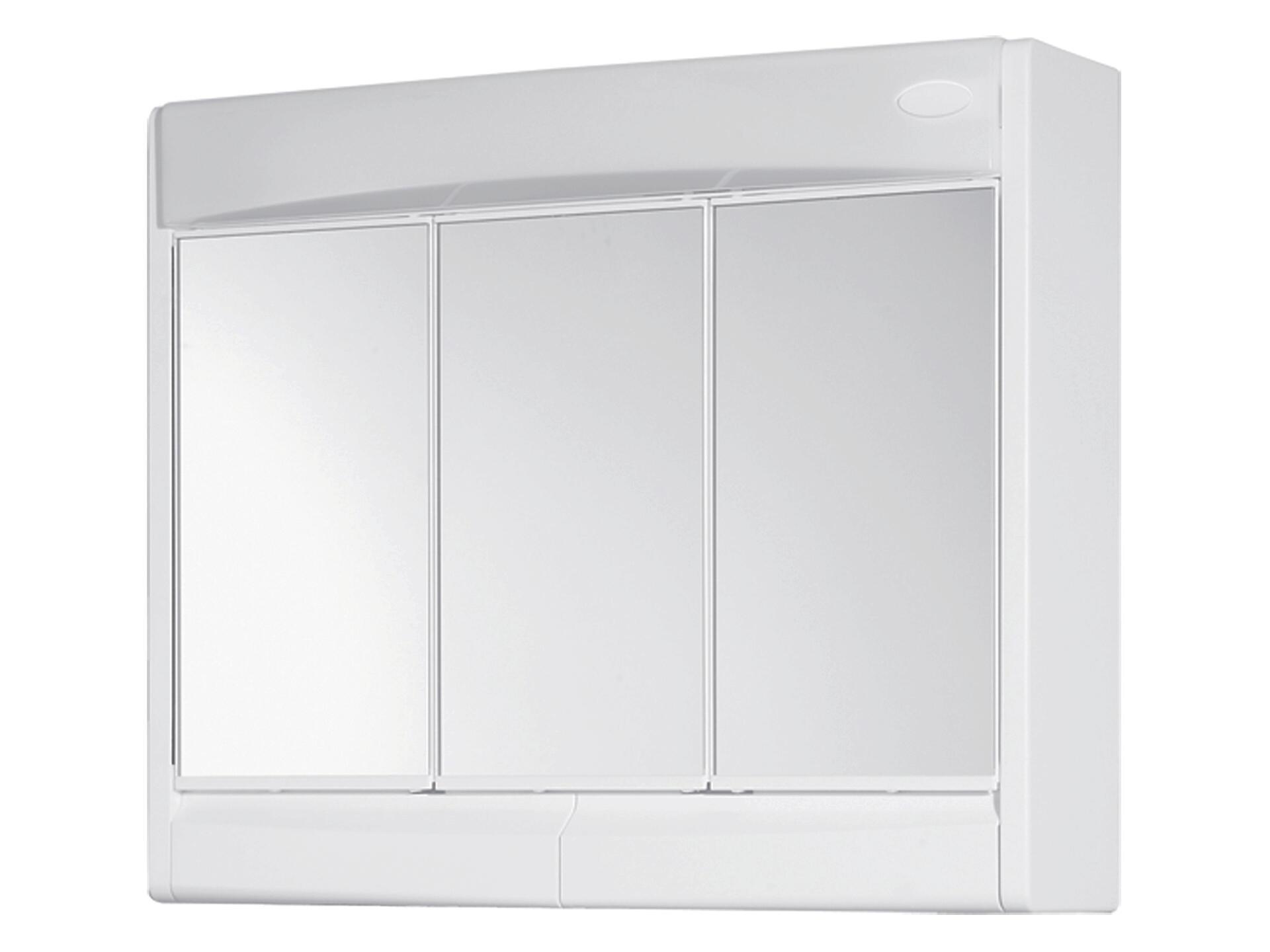 Hauteur Armoire De Toilette jokey saphir armoire de toilette 60cm 3 portes miroir blanc