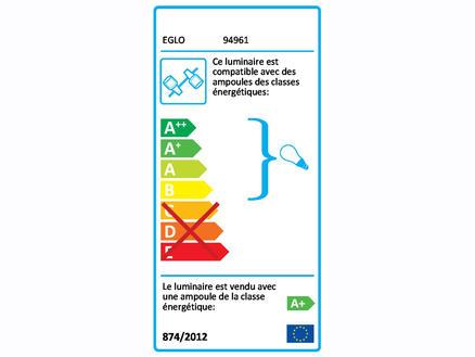 Eglo Sarria barre de spots LED GU10 3x5 W blanc/chrome