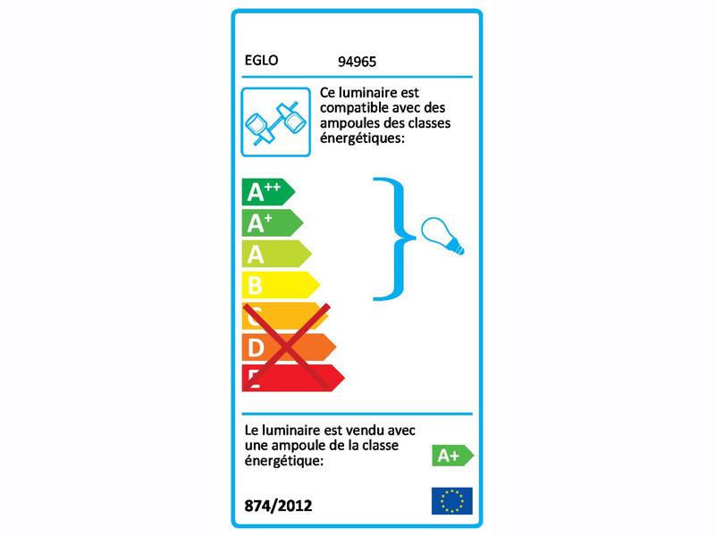 Eglo Sarria barre de spots LED GU10 3x5 W noir/chrome