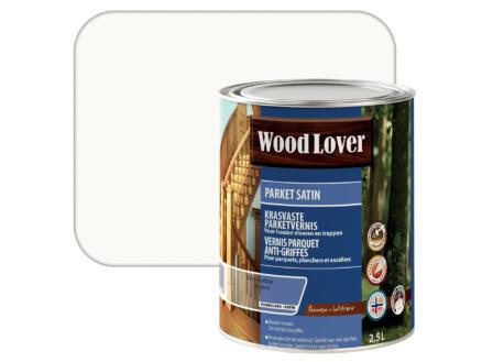 Wood Lover Satin parketvernis 2,5l kleurloos