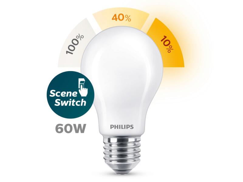 Philips SceneSwitch LED peerlamp E27 7,5W dimbaar
