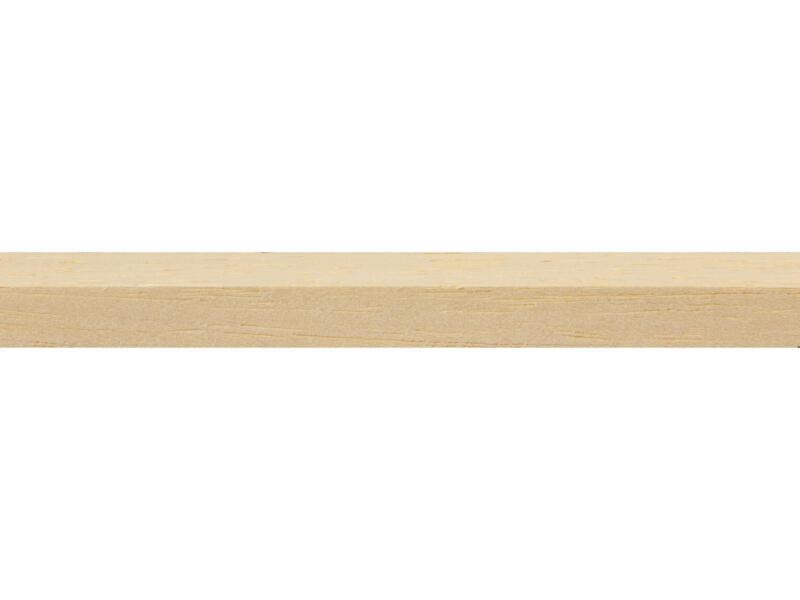 Schaaflat hardhout 9x9 mm 270cm wit