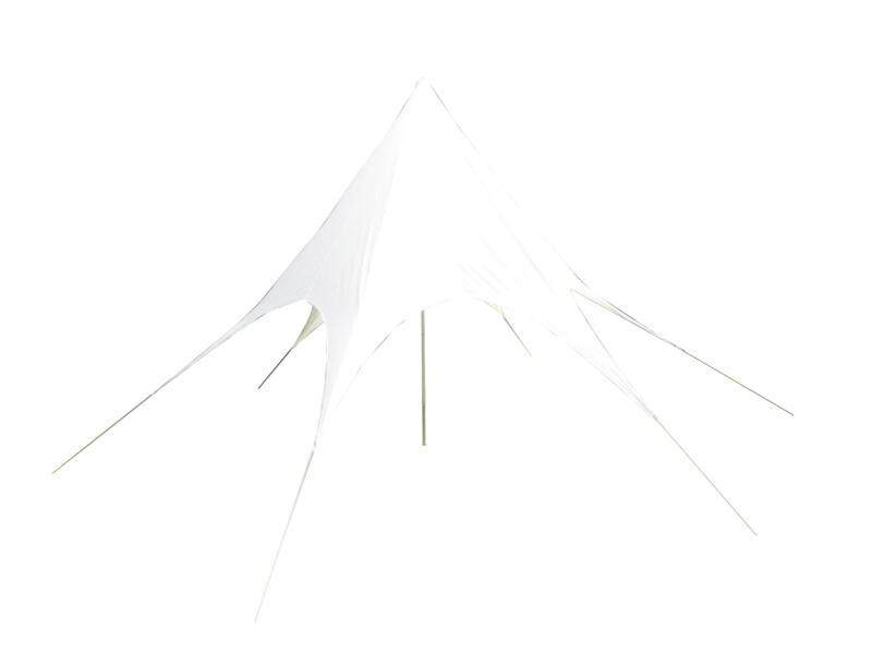 Schaduwdoek zeshoeking 350cm 11m² wit