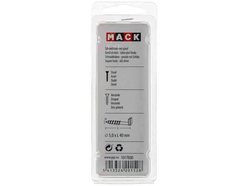 Mack Schroefduimen met gleuf 40x5 mm verzinkt 5 stuks