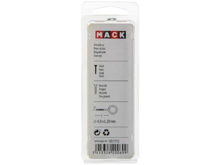 Mack Schroefogen 20x4 mm verzinkt 10 stuks