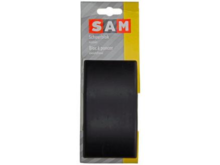 Schuurblok rubber 128x70 mm