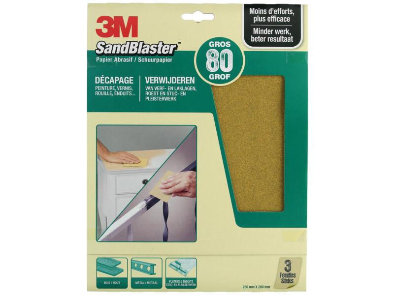 3M Schuurpapier K80 280x230 mm