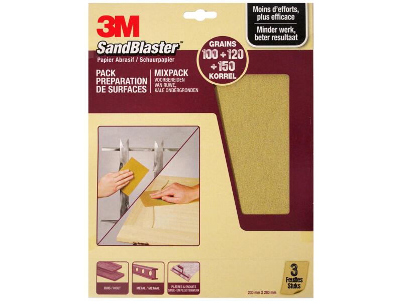 3M Schuurpapier assortiment medium paars (3 stuks)