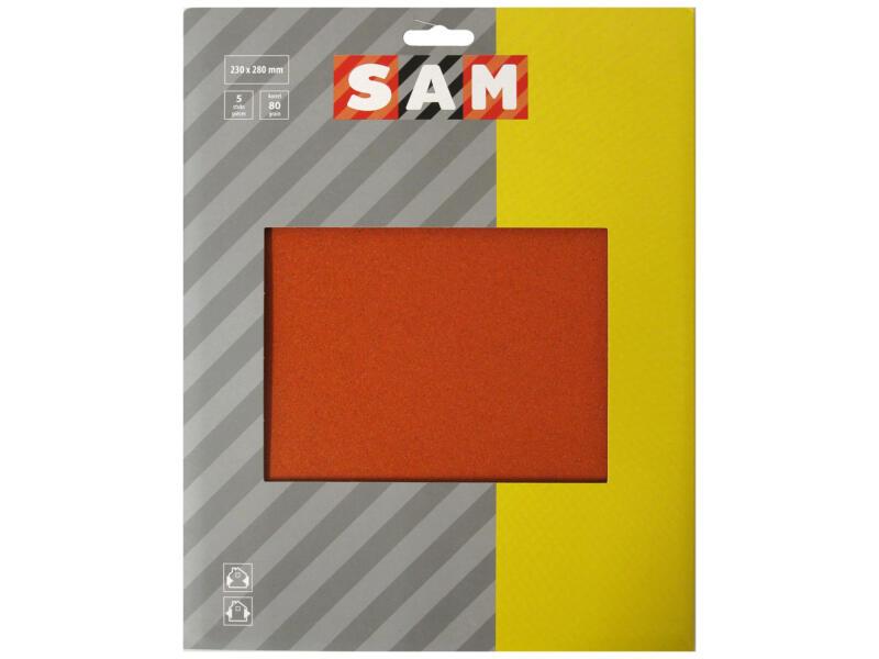 Sam Schuurpapier flint K80 grof (5 stuks)