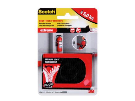 3M Scotch RF6731 Extra Strong montagestrip met klittenband 25x75 mm zwart 4 stuks