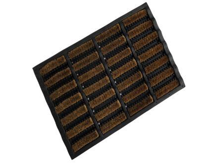Scraper paillasson coco caoutchouc 40x60 cm
