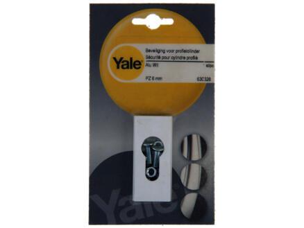 Yale Sécurité pour cylindre profilé pz 6mm blanc