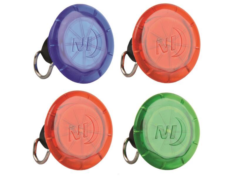 Nite Ize See'Em LED lamp spaak rood/blauw/groen 4 stuks