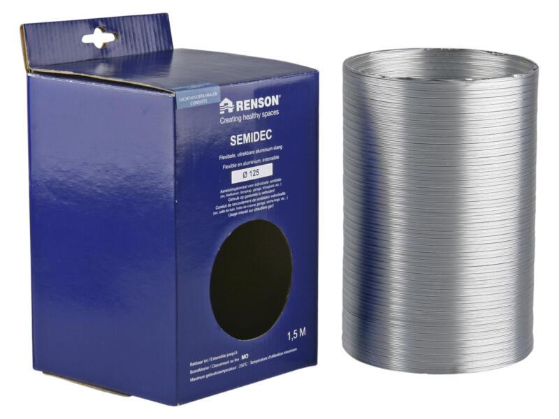 Renson Semidec flexibel 125mm 1,5m aluminium