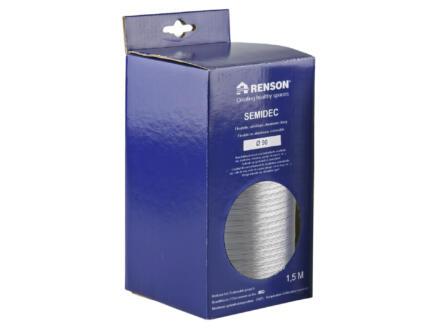 Renson Semidec flexibel 90mm 1,5m aluminium