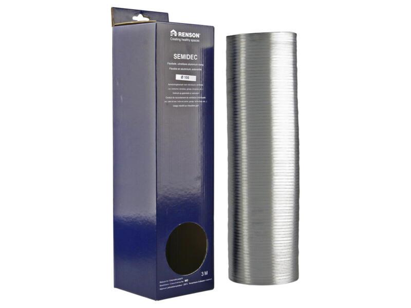 Renson Semidec gaine flexible 100mm 3m aluminium