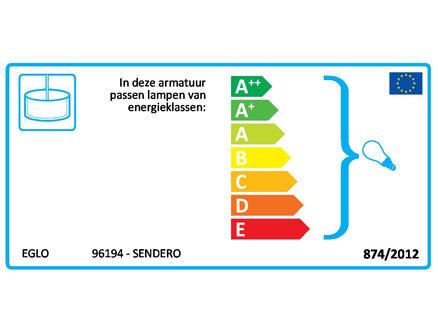 Eglo Sendero hanglamp E27 max. 2x60 W lichtbruin