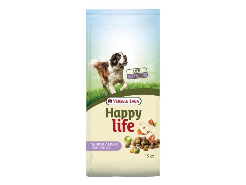 Happy Life Senior Light croquettes chien poulet 15kg