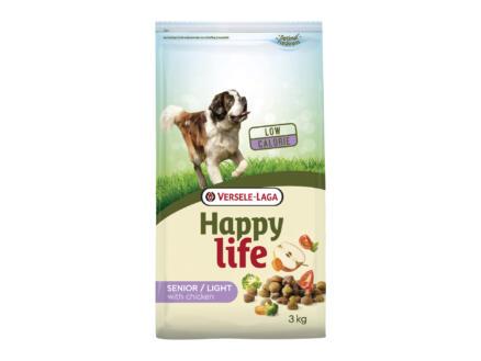 Happy Life Senior Light croquettes chien poulet 3kg