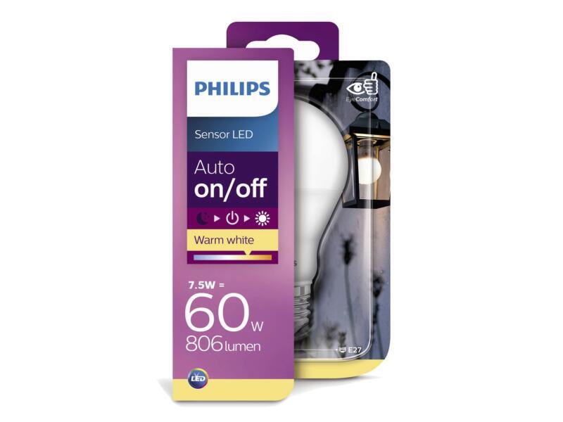 Philips Sensor LED kogellamp 7,5W E27 lichtsensor