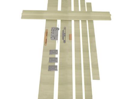 Solid Senza Amato kit d'ébrasement MDF 202x40 cm chêne brun