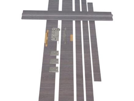 Solid Senza Classico deurkast MDF 202x16,5 cm eik grijs