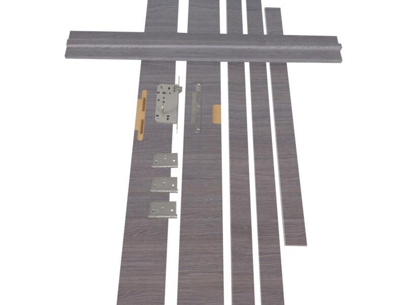 Solid Senza Classico deurkast MDF 202x40 cm eik grijs