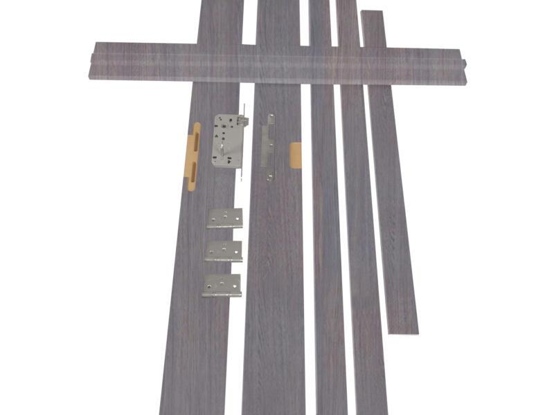 Solid Senza Classico deurkast verticaal MDF 202x40 cm eik grijs