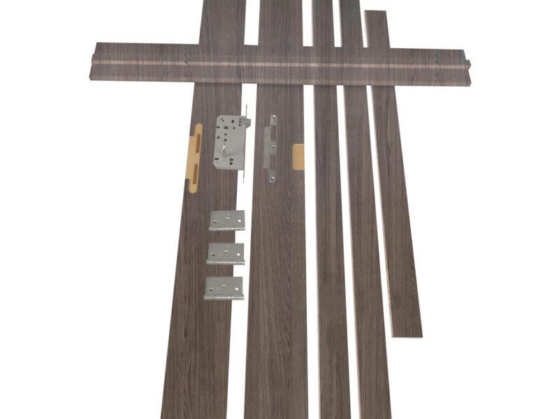Solid Senza Classico kit d'ébrasement MDF 202x16,5 cm chêne anthracite