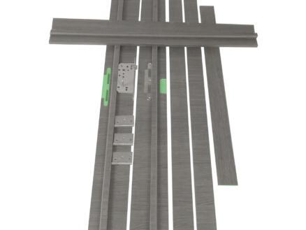 Solid Senza Classico kit d'ébrasement MDF hydrofuge 202x20 cm chêne anthracite